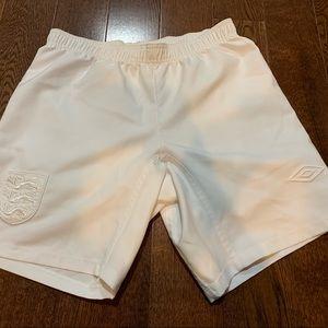 Men's small Umbro England soccer shorts
